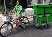 自転車による配送