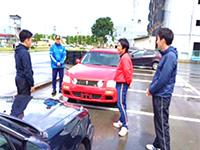 教習所での車両追突体験