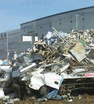 震災直後の仙台物流センター